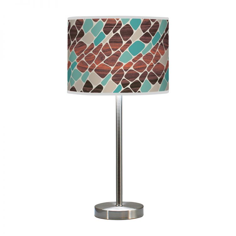 cell pattern printed shade hudson table lamp