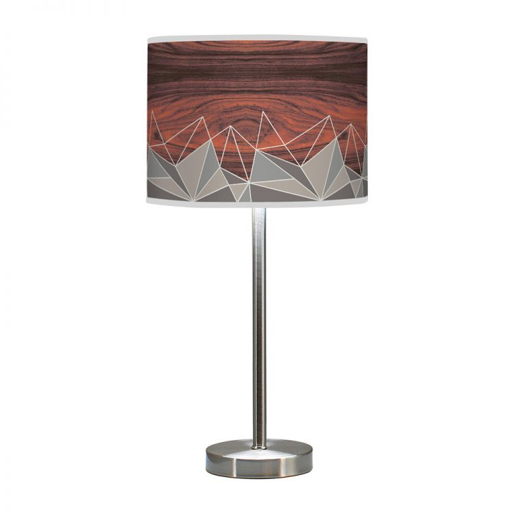 facet pattern printed shade hudson table lamp