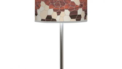 printed linen shade table lamps and wall sconces
