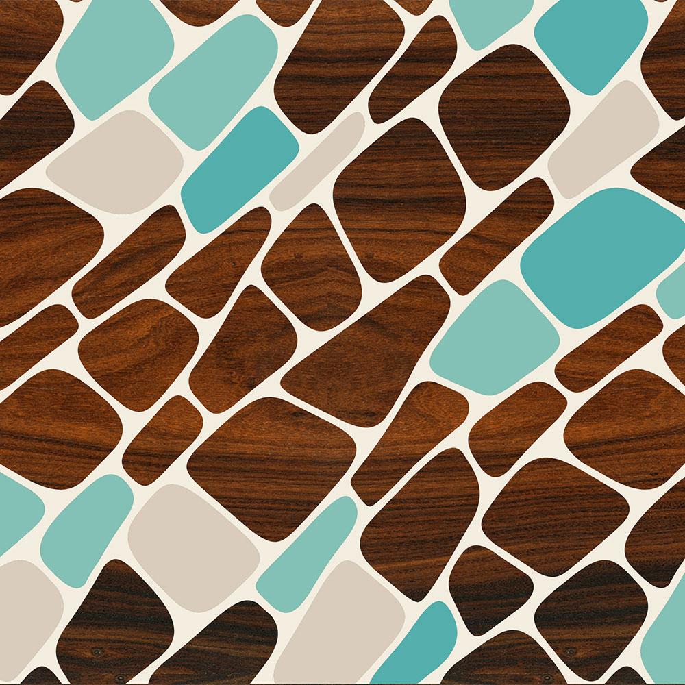 blue plant cell patterns geometric wall art prints