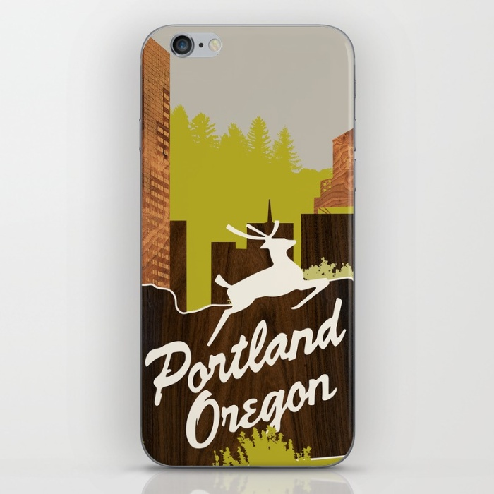 portland white stag sign phone skin