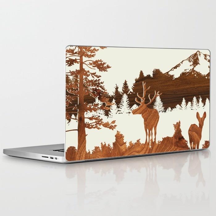 woodland laptop and ipad skin