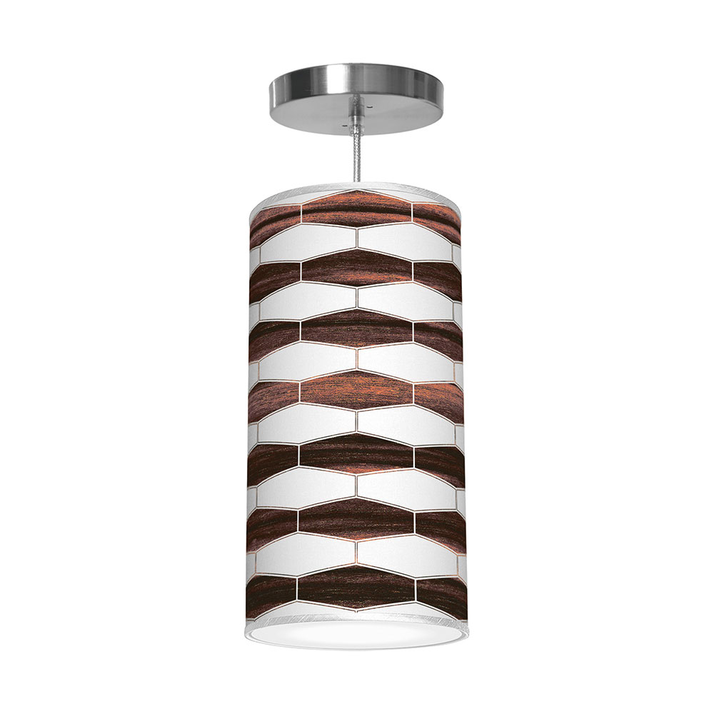 weave 3 column pendant ebony