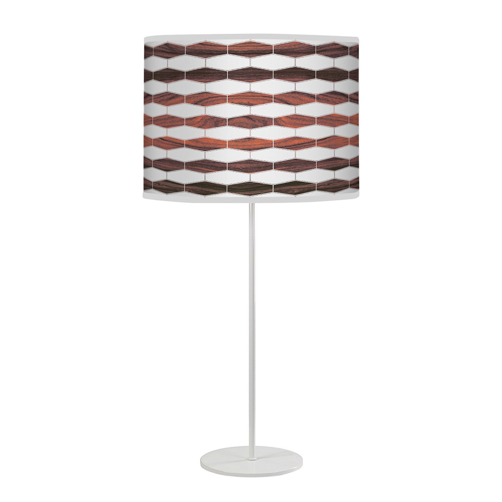 weave 3 pattern printed shade tyler table lamp