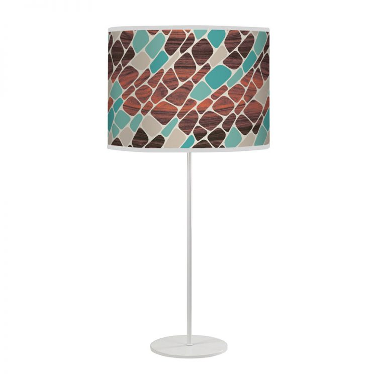 cell pattern printed linen shade tyler table lamp
