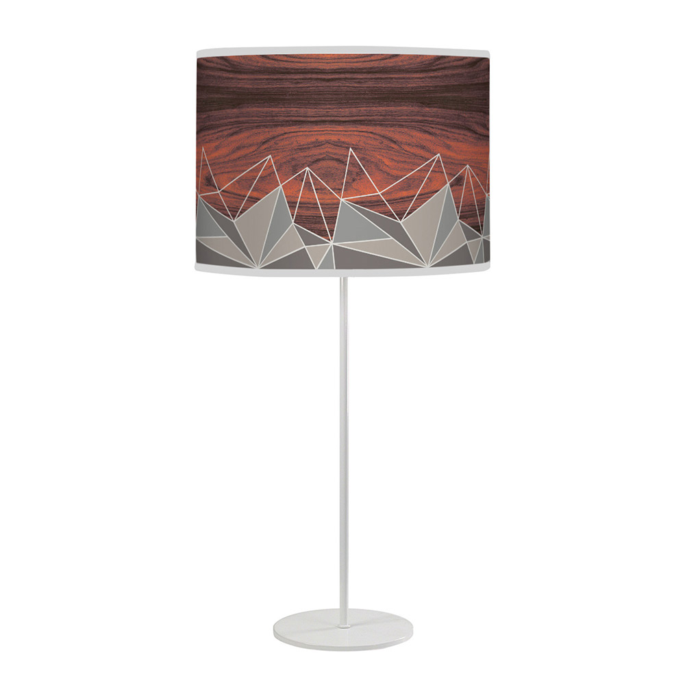 facet pattern printed linen shade tyler table lamp