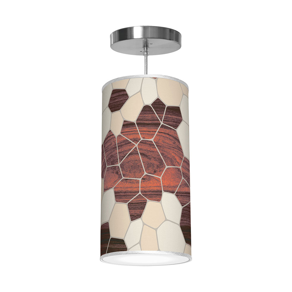geode patterns printed shade column pendant
