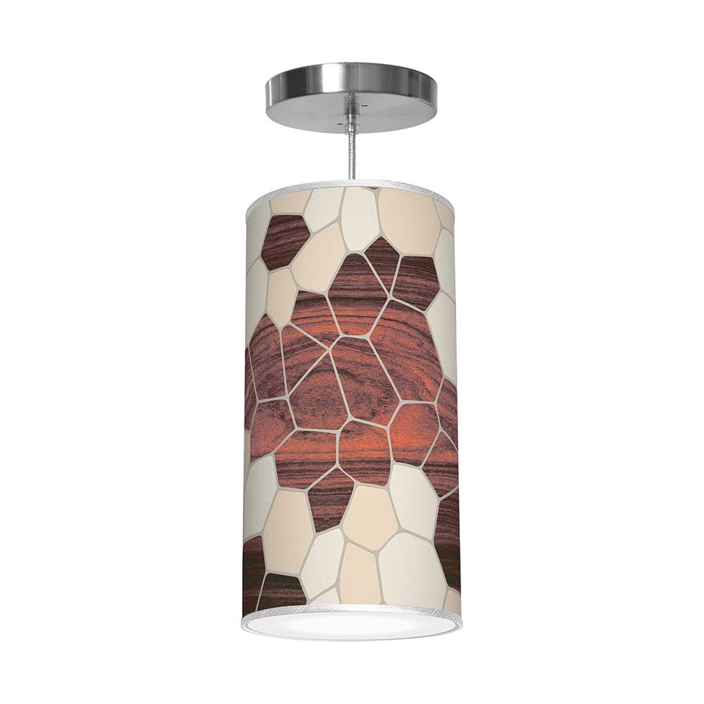 geode patterns printed shade column pendant