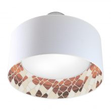 cell pattern interior printed drum shade nest pendant