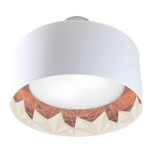 facet pattern interior printed drum shade nest pendant