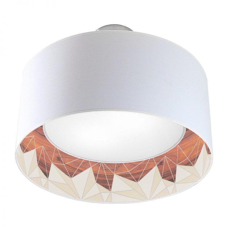 facet pattern interior printed drum shade nest pendant