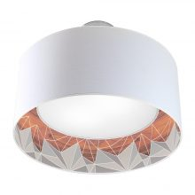 facet nest pendant grey