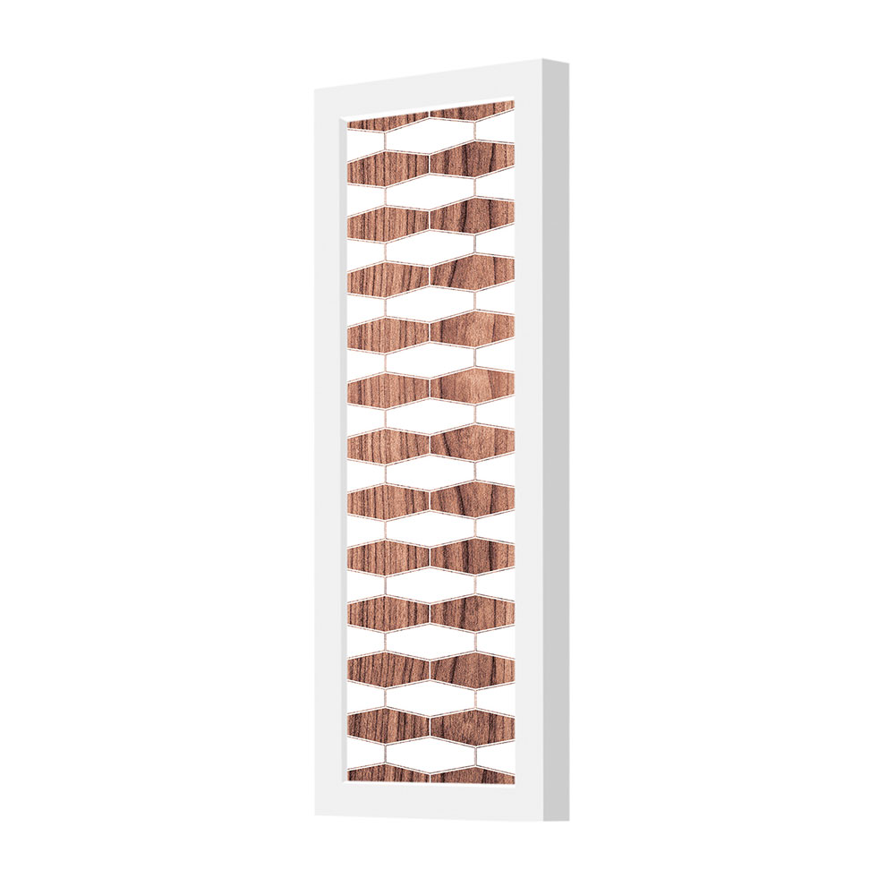 weave 3 pattern printed linen plank wall sconce