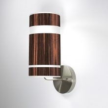 branch column wall sconce ebony