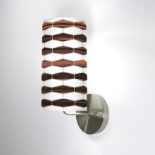 weave 3 printed linen shade column wall sconce
