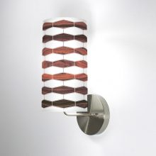 weave 3 column wall sconce rosewood