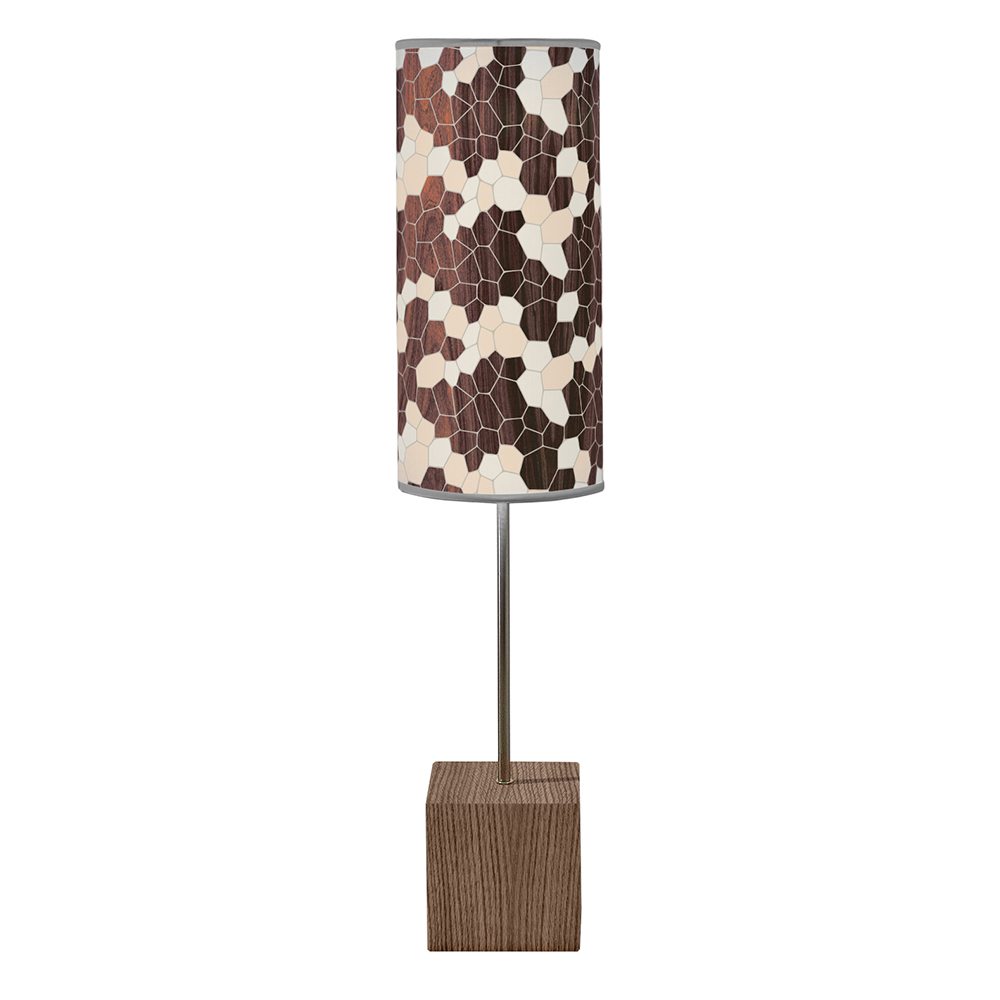 geode pattern printed shade cuboid table lamp