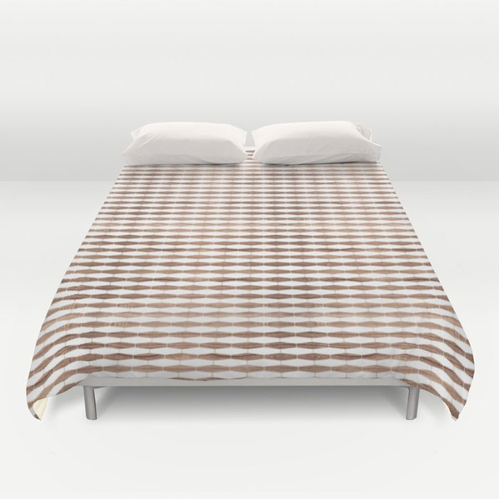 weave walnut duvet cover