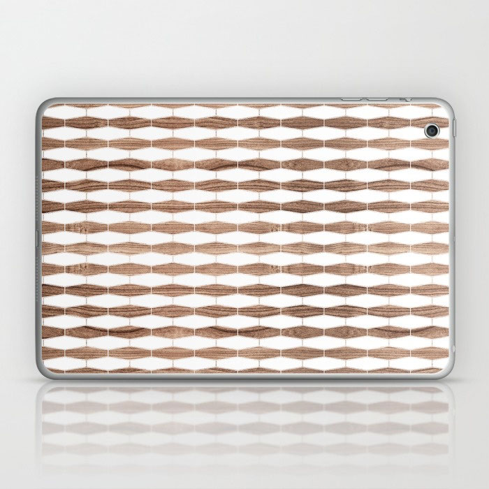 weave walnut laptop and ipad skin