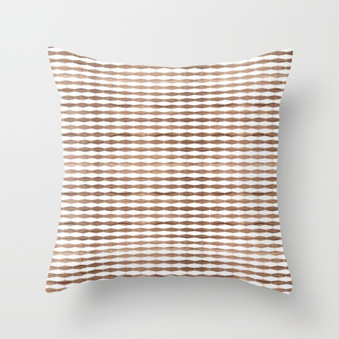 Weave In Walnut Throw Pillow Jefdesigns
