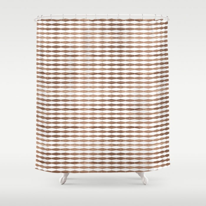 weave walnut pattern modern shower curtain