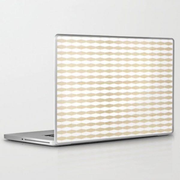 weave white oak laptop and ipad skin