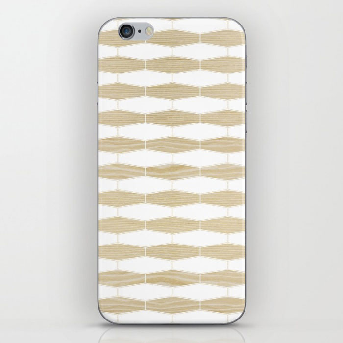 weave white oak phone skin