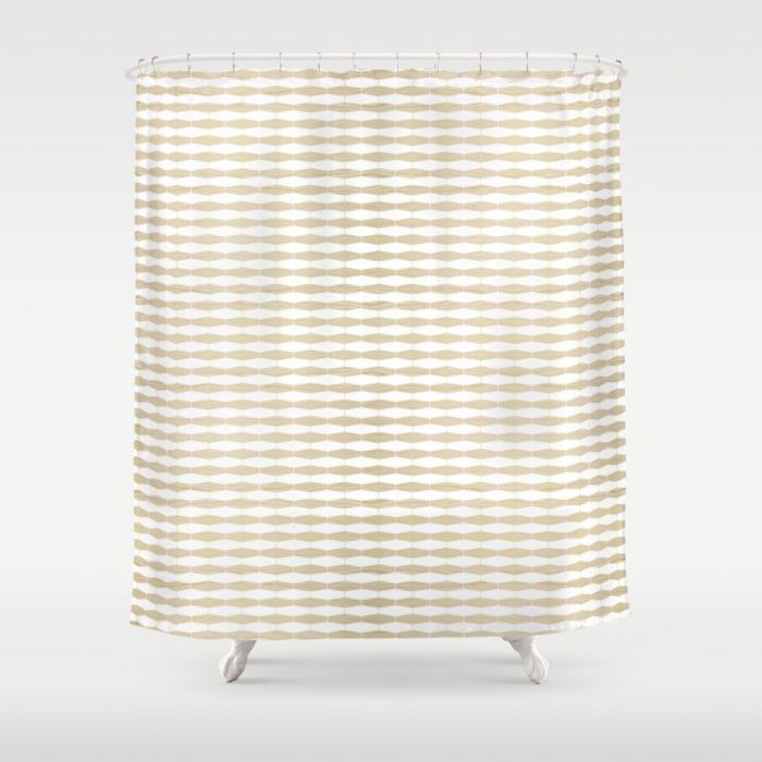 weave white oak shower curtain