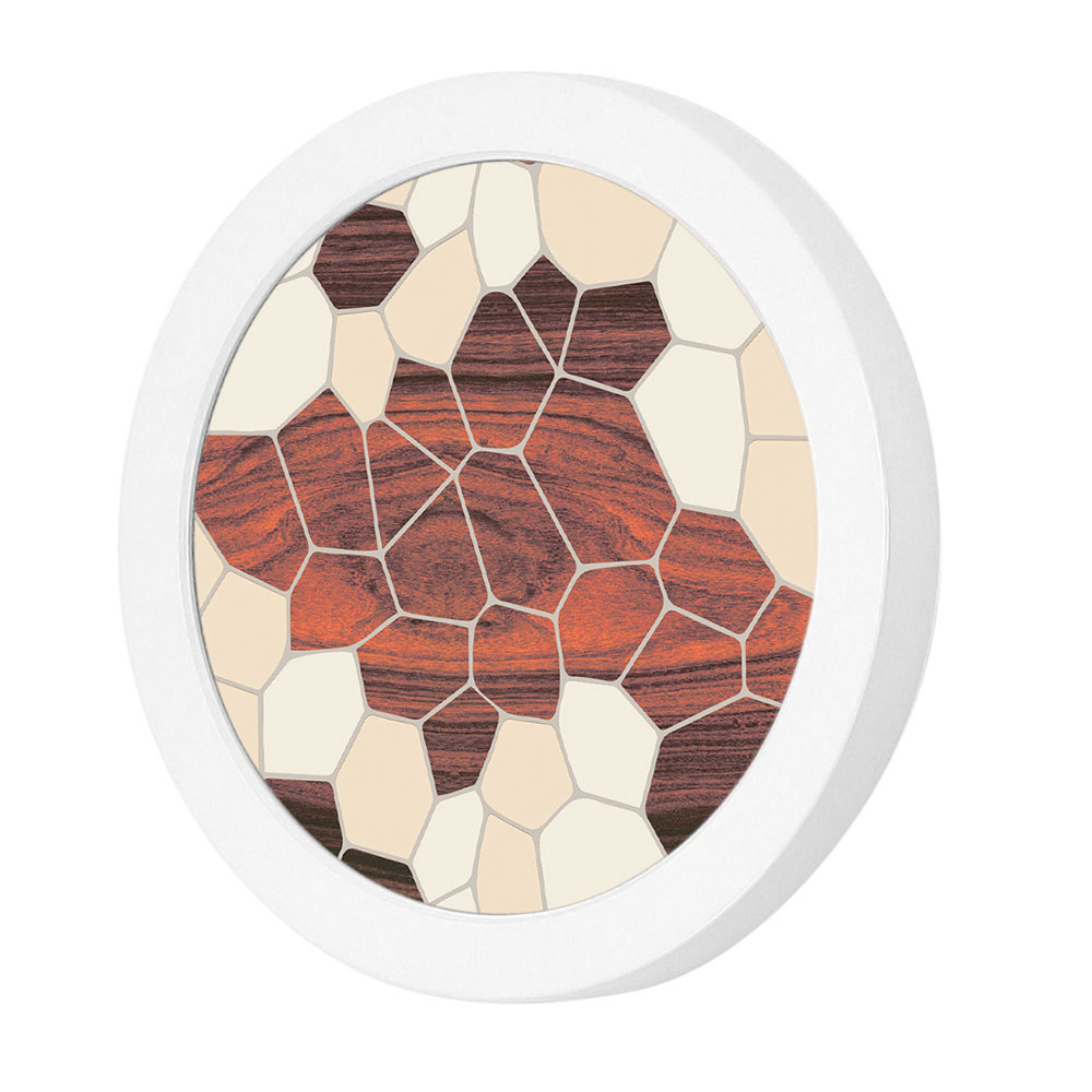 geode pattern printed linen led port wall sconce