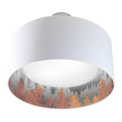 treescape printed shade nest drum pendant black