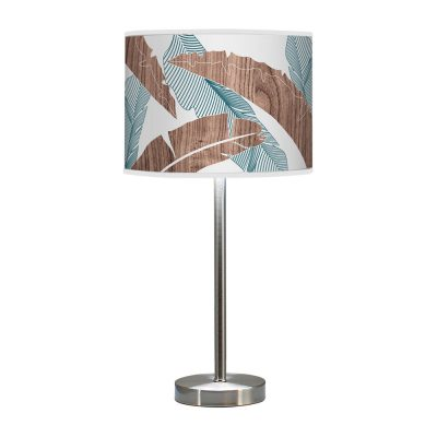 banana printed shade hudson table lamp blue