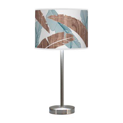banana printed shade hudson table lamp blue