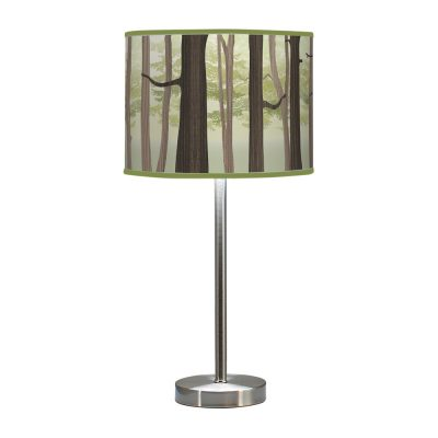 forest printed shade hudson table lamp green