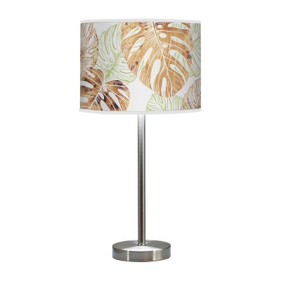 monstera printed shade hudson table lamp green