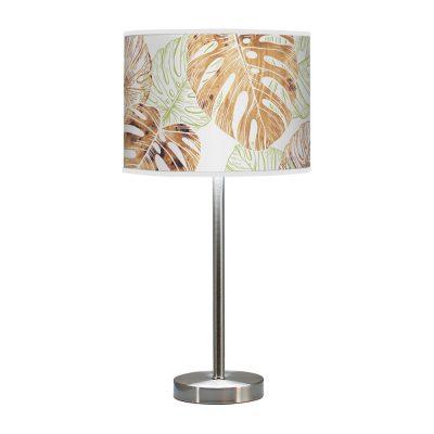 monstera printed shade hudson table lamp green