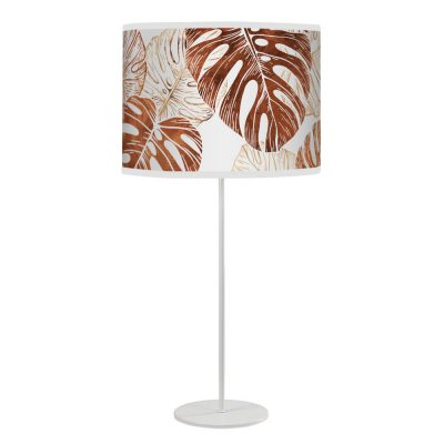 monstera printed shade white tyler table wood