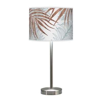 palm printed shade hudson table lamp blue