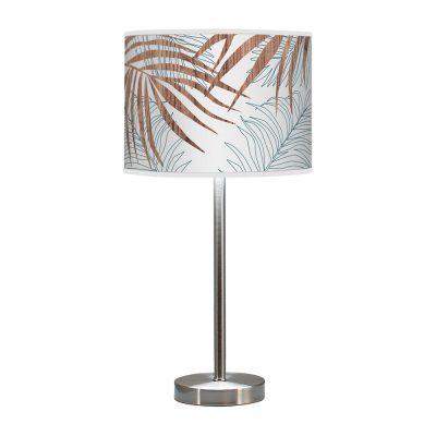 palm printed shade hudson table lamp blue