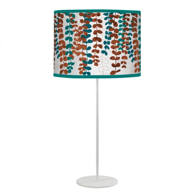 vine printed shade white tyler table lamp blue