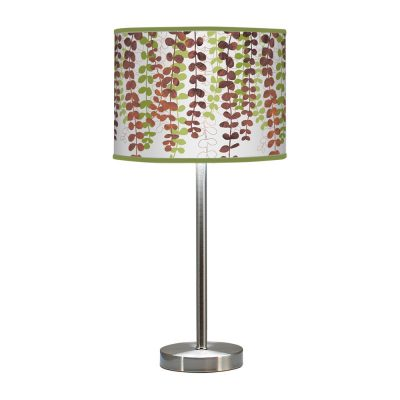 vine printed shade hudson table lamp green