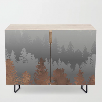 treescape in wood credenza