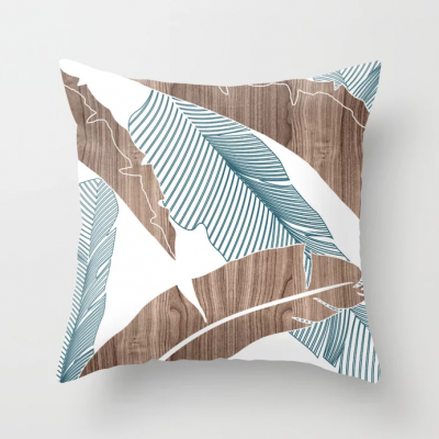 banana in wood throw pillow