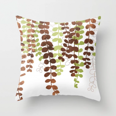 vine in wood throw pillow