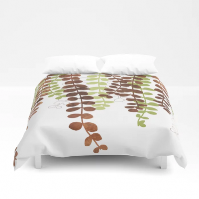vine in wood duvet cover