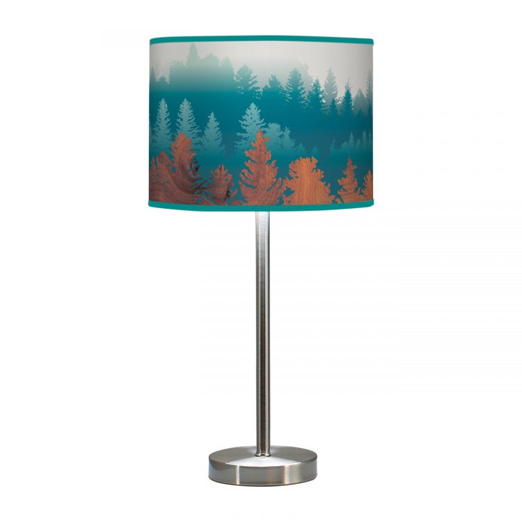 treescape printed shade hudson table lamp blue