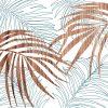 palm blue wall Art Print