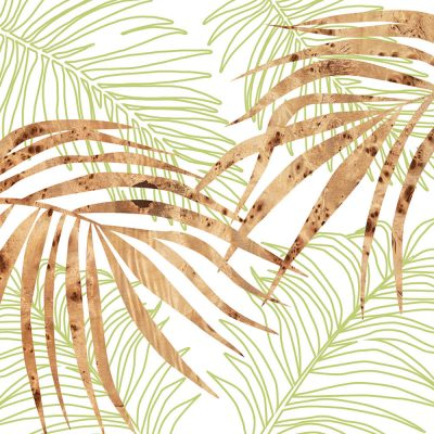 palm green wall Art Print