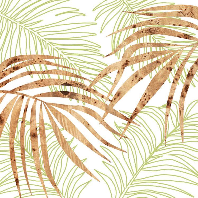 palm green wall Art Print