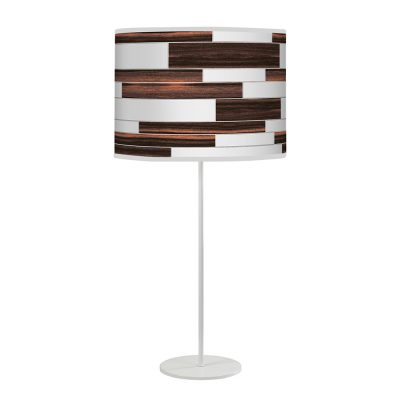 tile pattern printed shade tyler table lamp ebony