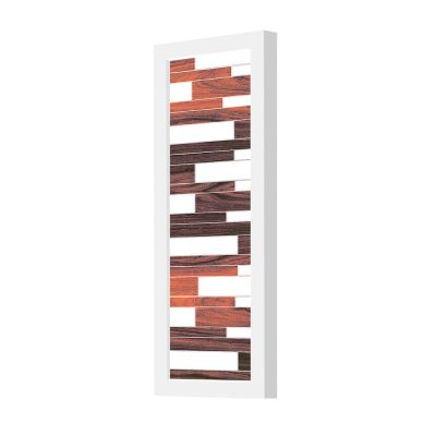 tile pattern printed plank wall sconce rosewood